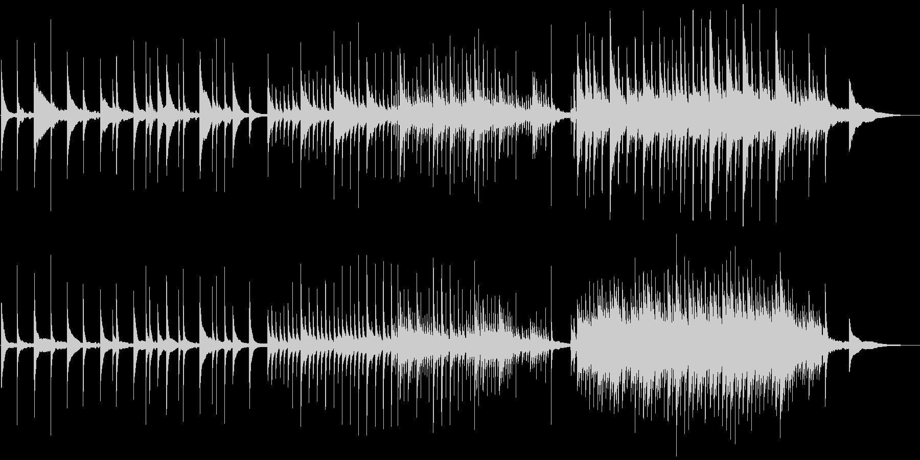 澄み切ったピアノソロのポジティブ透明感の未再生の波形
