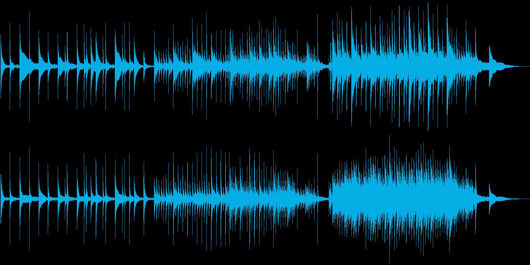 澄み切ったピアノソロのポジティブ透明感の再生済みの波形