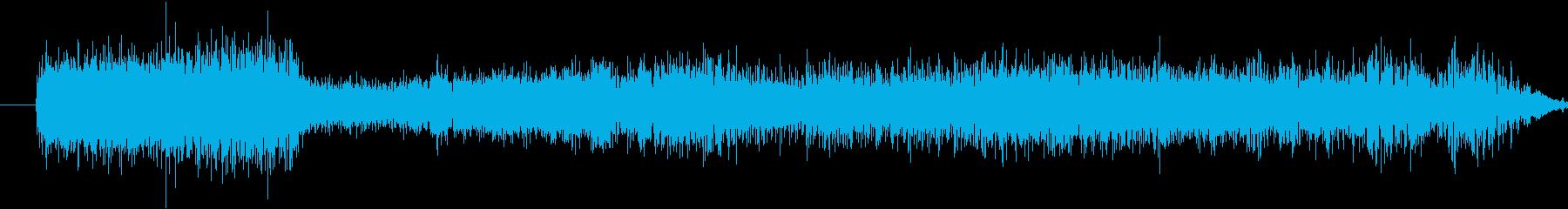 ラジオスキャンレーザーパニングウーシュの再生済みの波形