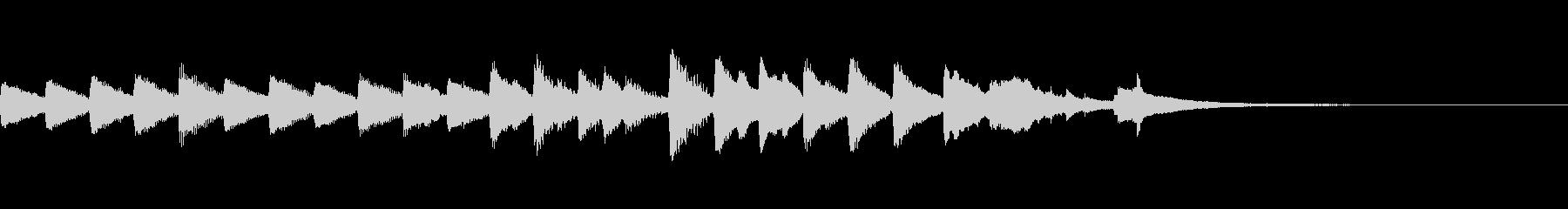 星空イメージのピアノ曲の未再生の波形