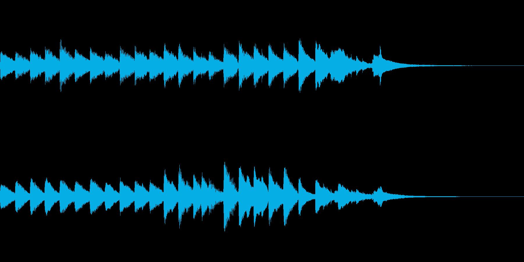 星空イメージのピアノ曲の再生済みの波形