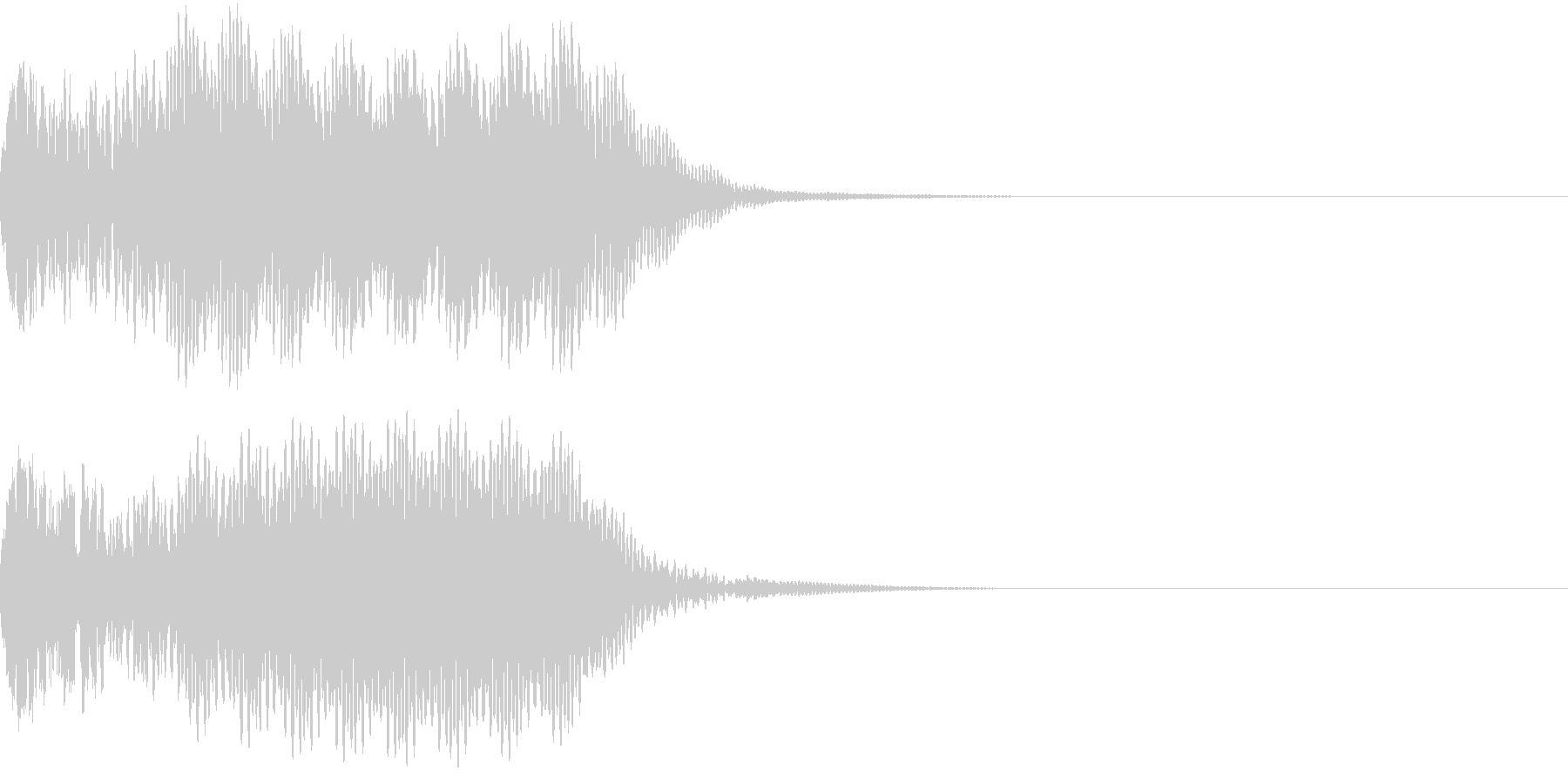 キュイン 光 ピカーン フラッシュ 14の未再生の波形
