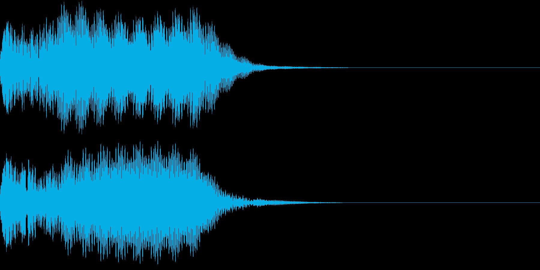 キュイン 光 ピカーン フラッシュ 14の再生済みの波形