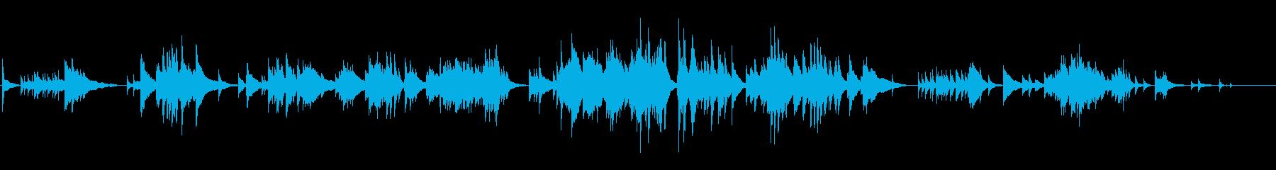 ハープソロ『亜麻色の髪の乙女』の再生済みの波形