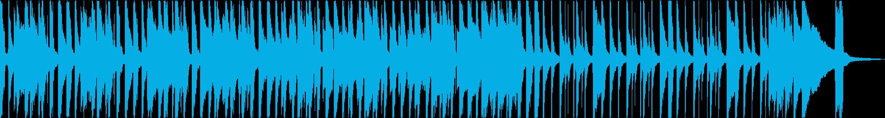 のんびり、明るく陽気なブルースBGMの再生済みの波形