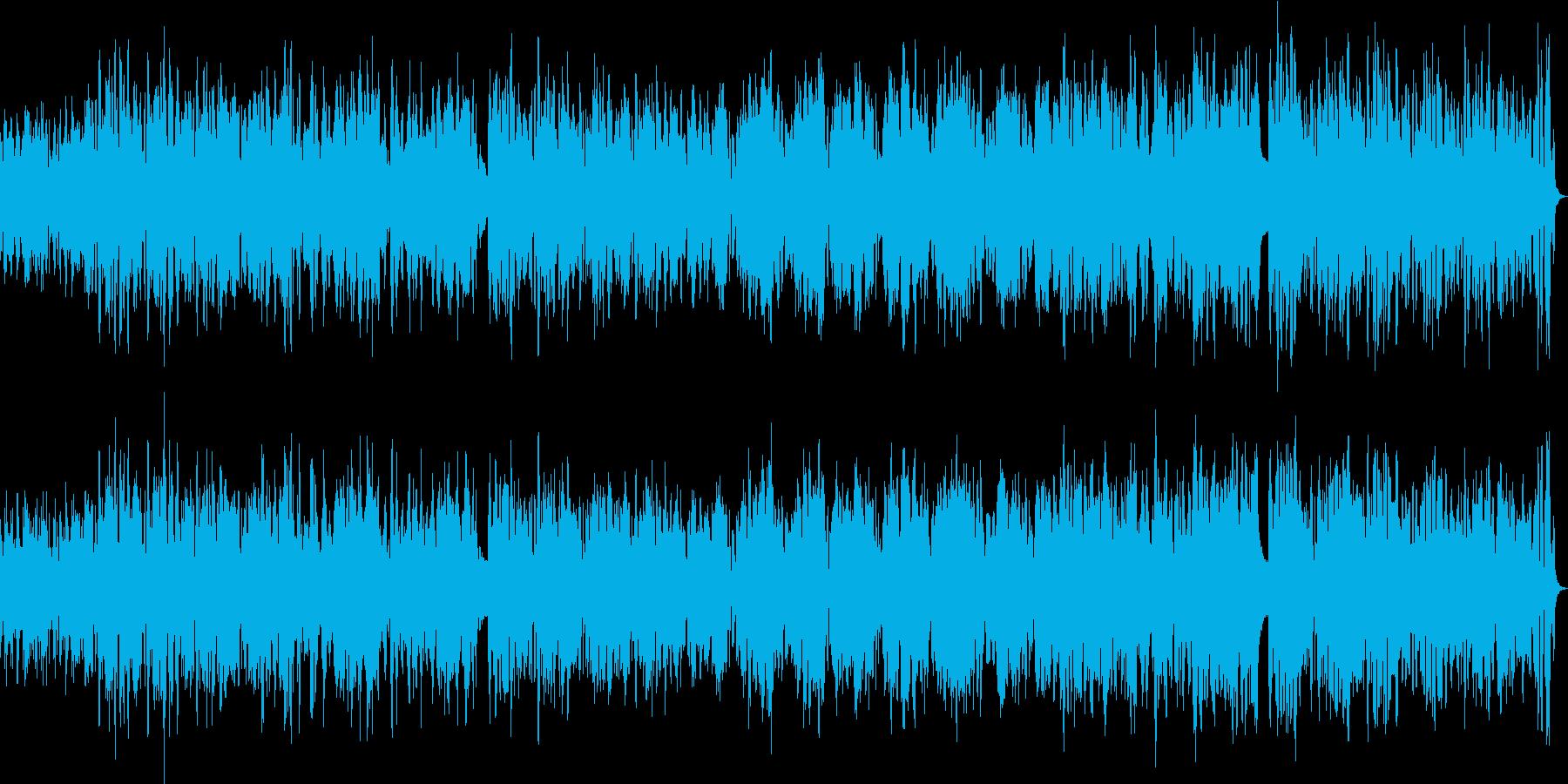 バンドネオン・ギター・ベースのボサノバの再生済みの波形