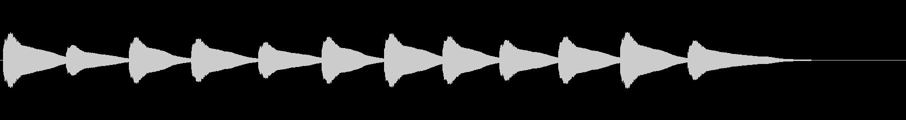 【鐘の音_08】カーン/教会/12時の未再生の波形
