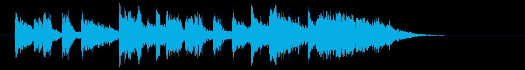 ミディアムテンポのストリングスの再生済みの波形