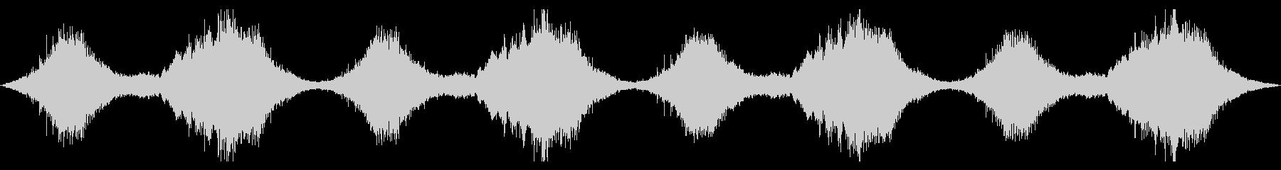 不協和音が不気味なBGMの未再生の波形