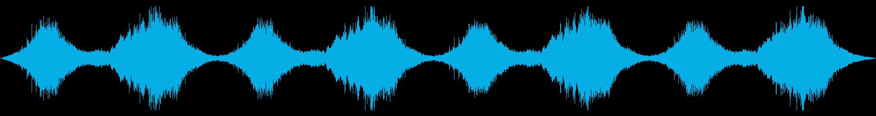 不協和音が不気味なBGMの再生済みの波形