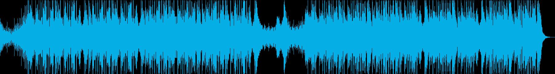 ダークな雰囲気のダブステップの再生済みの波形