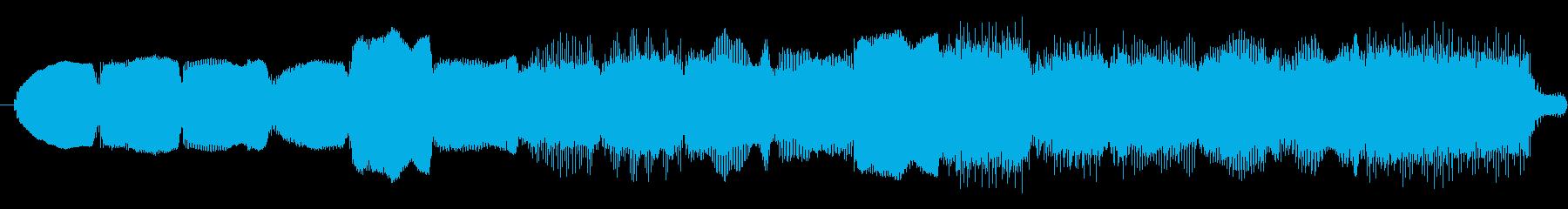 夜明けとともに山の向こうから聞こえる曲の再生済みの波形
