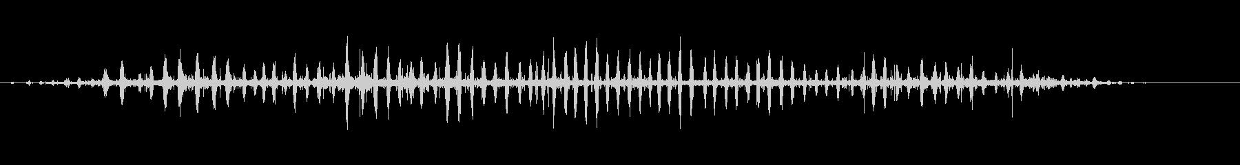 スノート・ヘッジホッグの未再生の波形