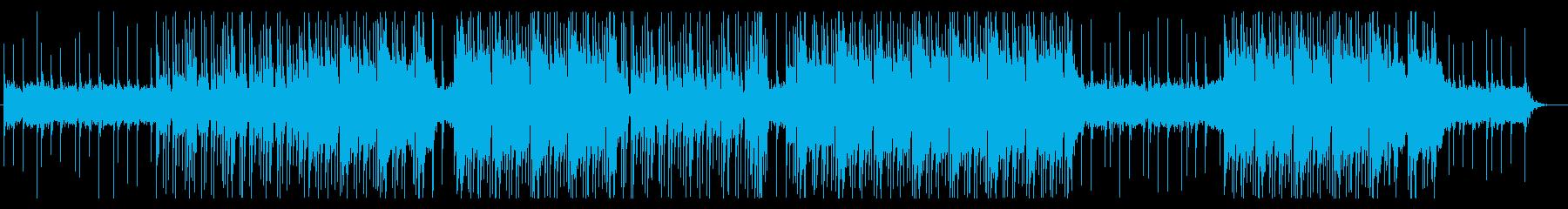 暗い雰囲気のビート/トラップの再生済みの波形