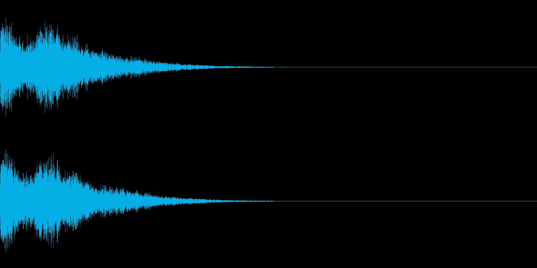 シャキーン!(派手なインパクト音)の再生済みの波形