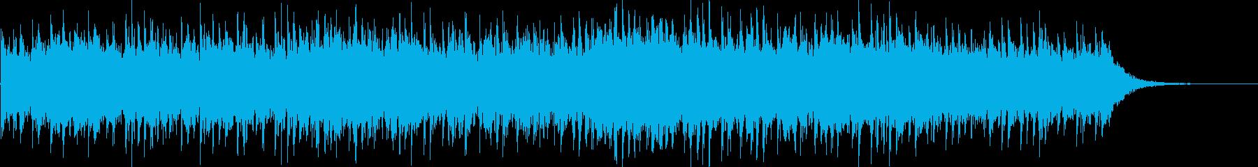 ピアノのメロディーとベル、そして簡...の再生済みの波形