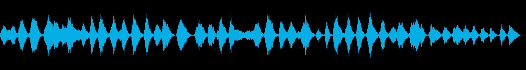 重たい金属を引きずるようなホラー環境音の再生済みの波形