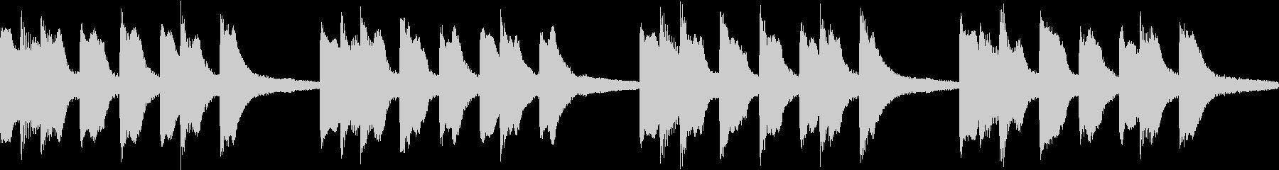 シンプル ベル 着信音 チャイム B-4の未再生の波形