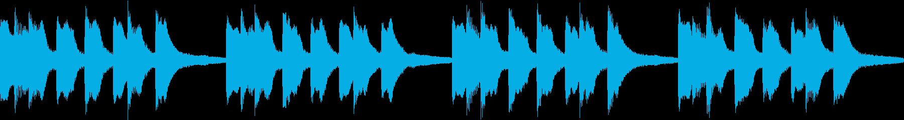 シンプル ベル 着信音 チャイム B-4の再生済みの波形