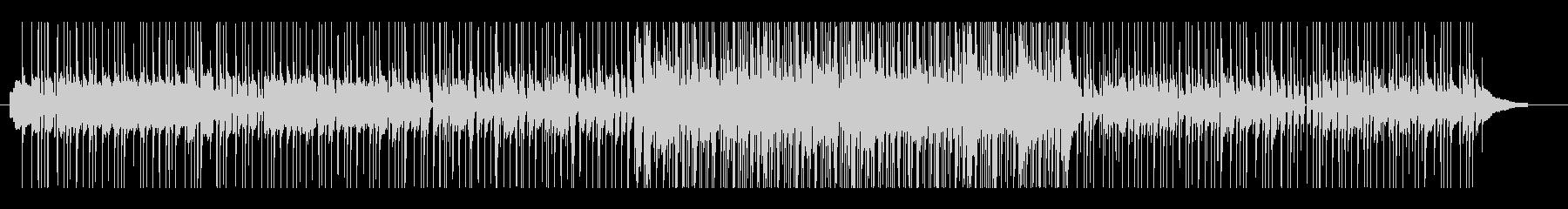 フュージョンライクなピアノトリオ楽曲の未再生の波形