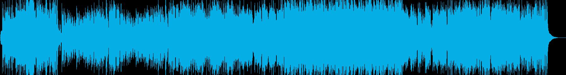 侍和風オーケストラゲームオープニングの再生済みの波形