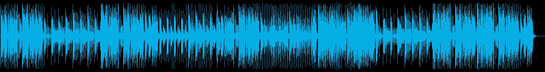 シンセサイザーが印象的な軽めの曲の再生済みの波形