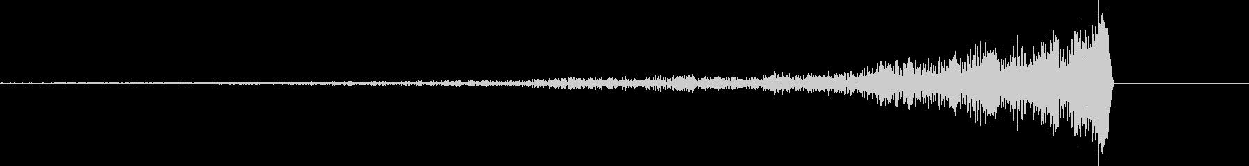 不安になるシンバルリバース音の未再生の波形