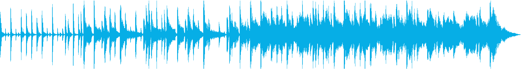 アコースティックベース、ピアノ、シ...の再生済みの波形