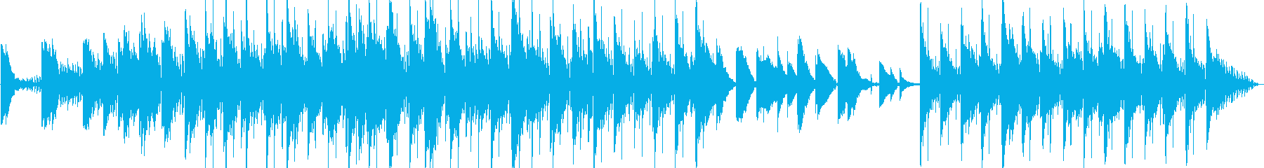 ブルー、ソフト、ロマンチック、ナイトリーの再生済みの波形