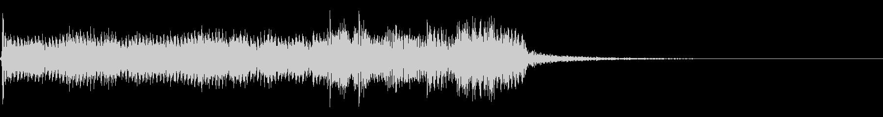 インパクトあるロックなジングル13の未再生の波形