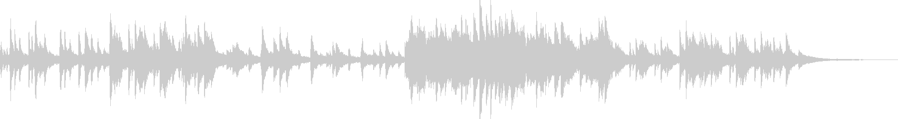 幻想的で切ないピアノ曲の未再生の波形