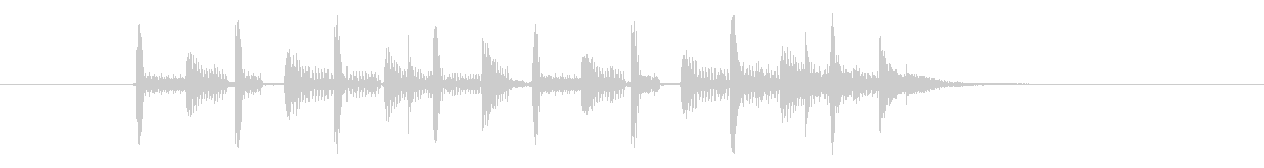 バンドサウンドなジングルの未再生の波形