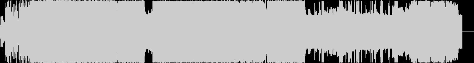 ハードコア、テクノの未再生の波形
