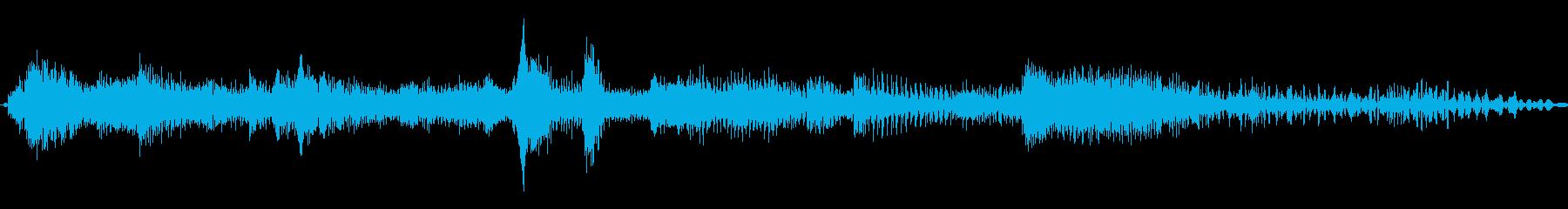 巻き戻し4の再生済みの波形