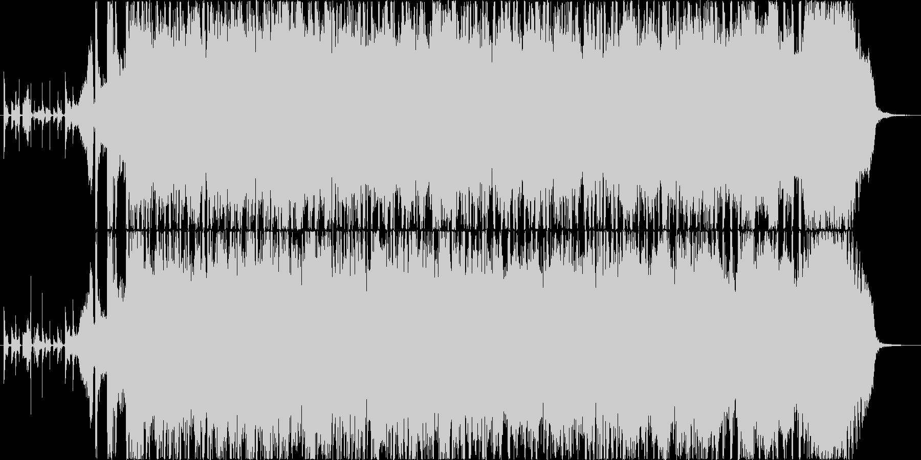 明るくスポーティなロックギタージングルの未再生の波形