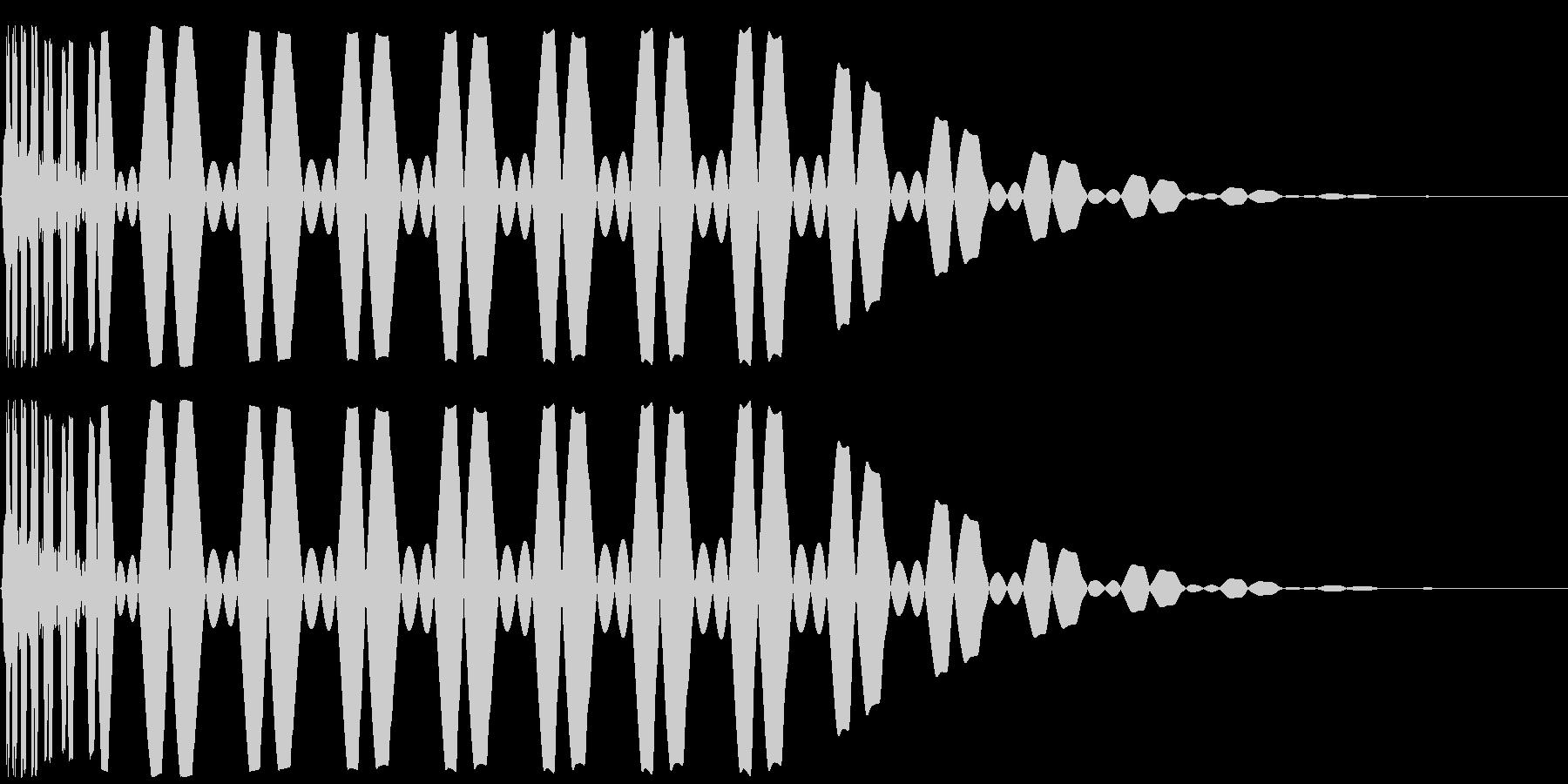 キック/ドラム/デジタル/Key-Cの未再生の波形