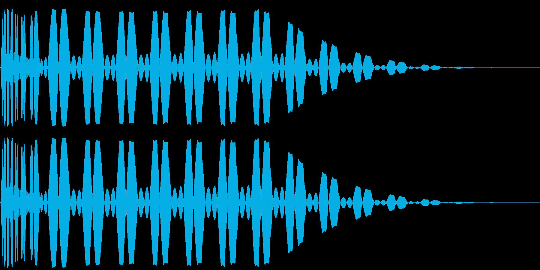 キック/ドラム/デジタル/Key-Cの再生済みの波形