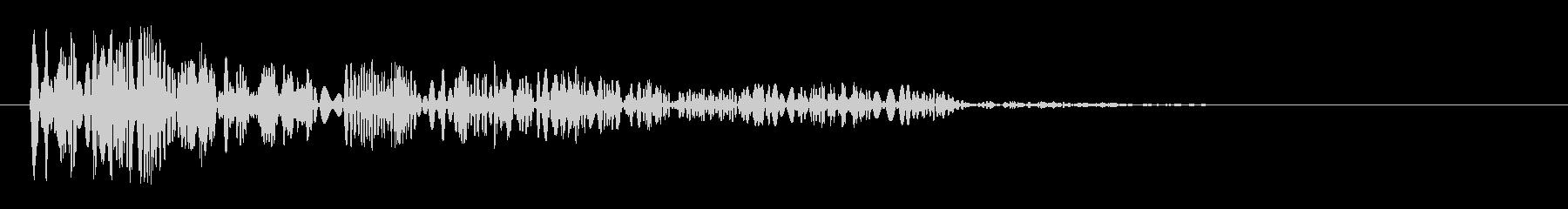 ブリュリュリュリュリュという急に止まる音の未再生の波形