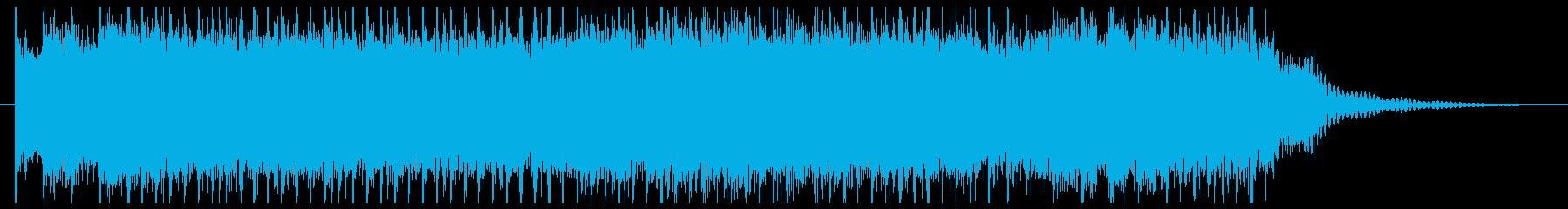 勢いのあるパンク系ロックのジングルの再生済みの波形