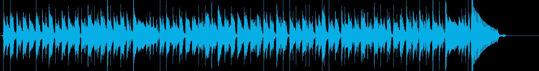 ここで実際の「マルディグラ」のテー...の再生済みの波形
