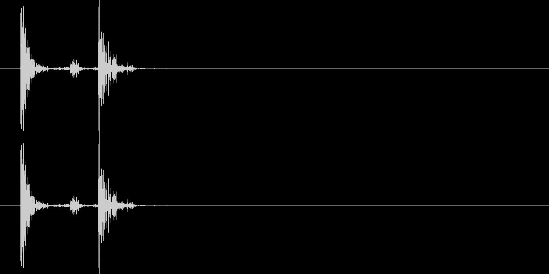 革のブーツ・着地3の未再生の波形