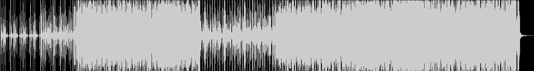 陽気で高揚するパンクロックの未再生の波形