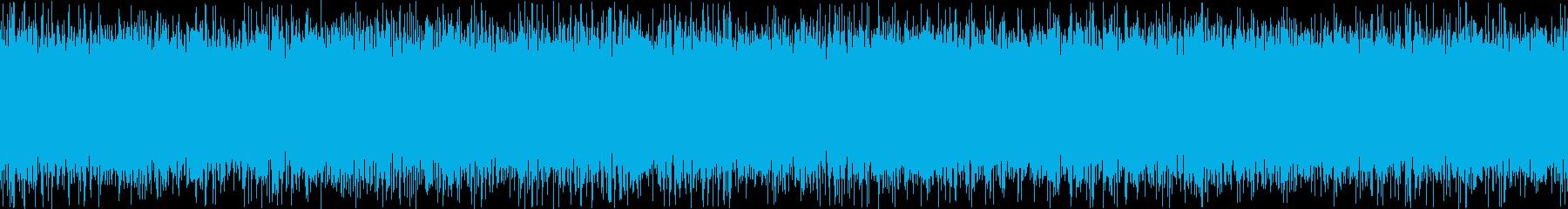 ザァー(FMラジオのノイズE)ループ処理の再生済みの波形