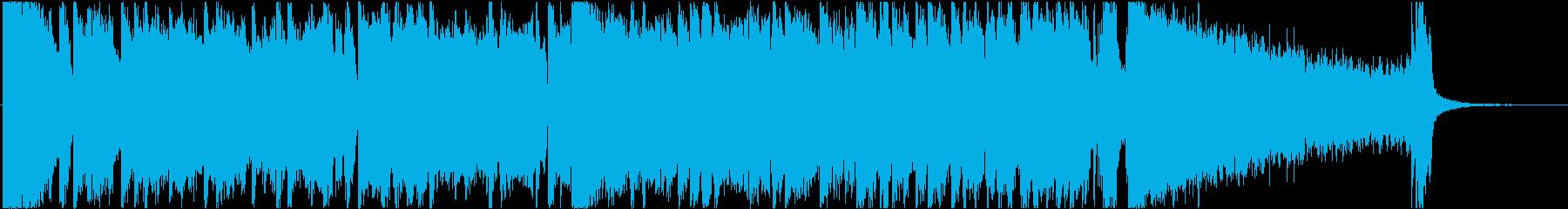 ダラダラしたブルースの再生済みの波形