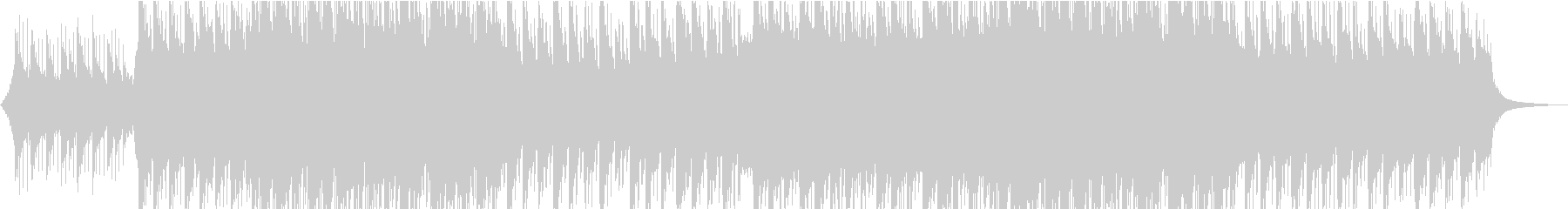 印象に残るメロディのピアノ・ストリングスの未再生の波形