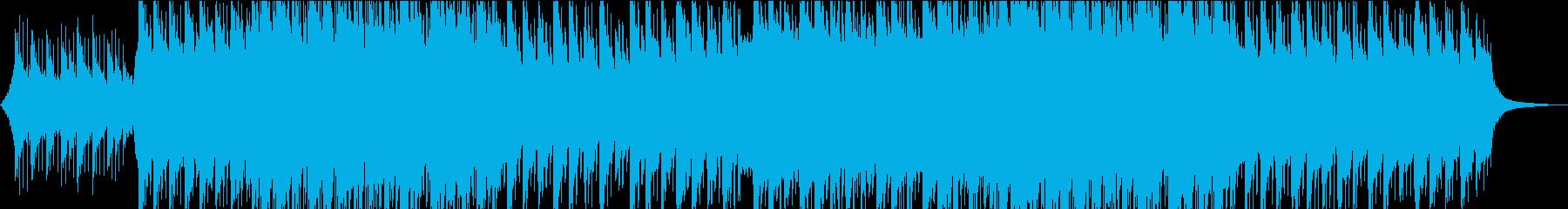 印象に残るメロディのピアノ・ストリングスの再生済みの波形