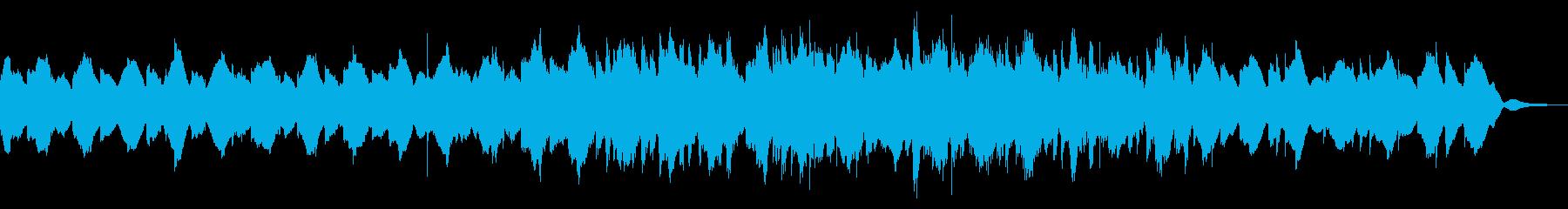 ピアノとグロッケンのゆったりとした曲の再生済みの波形