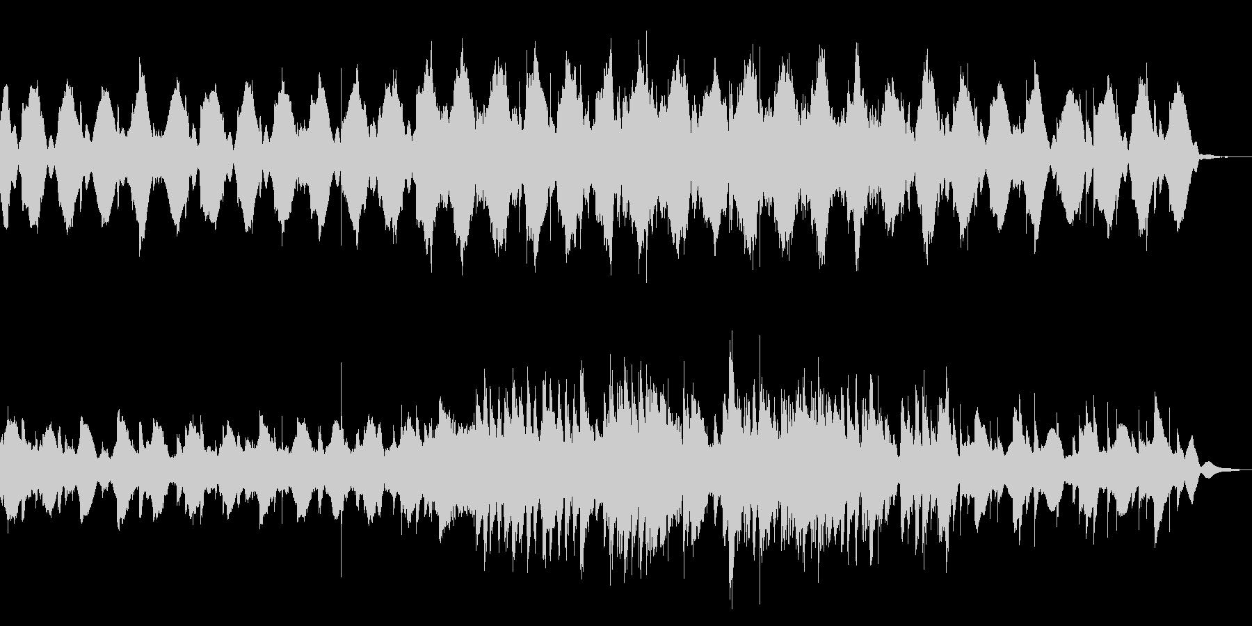 ピアノとグロッケンのゆったりとした曲の未再生の波形