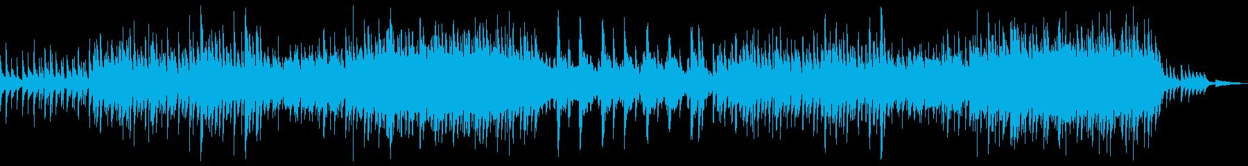 水撥ねるイメージのゆったり優しいBGMの再生済みの波形