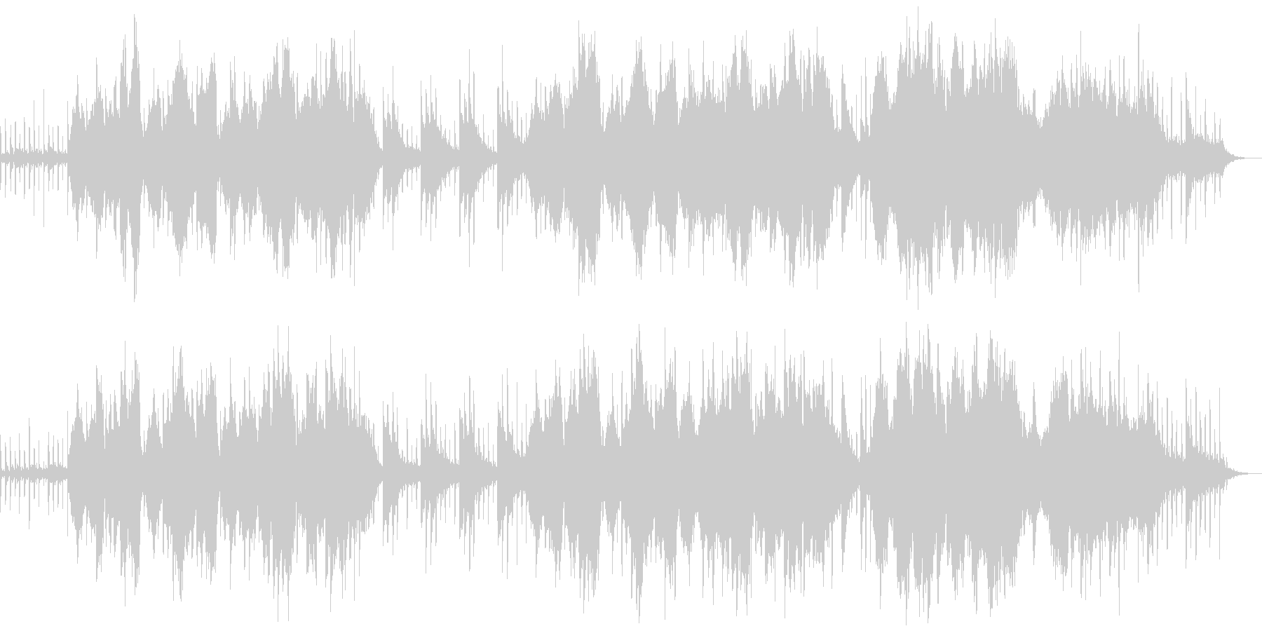 チェロ主体のレトロで寂しい哀愁曲の未再生の波形
